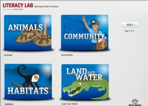 Literacy lab main screen